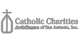 Logotipo de Catholic Charities en color gris