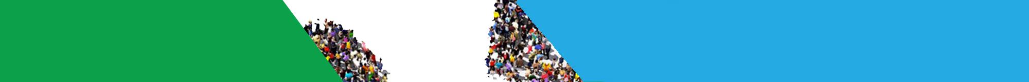 Imagen de apoyo de color azul y verde para la página de Inversionistas en México.